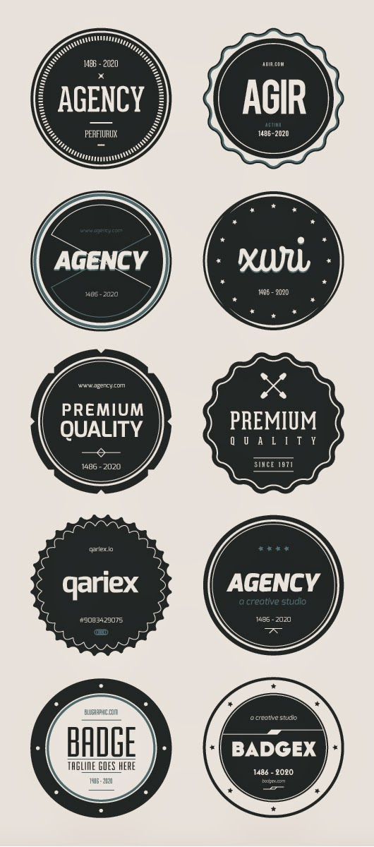 Free Vector Flat Badges