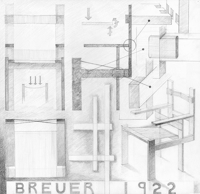 Marcel Breuer slatted chair from 1922