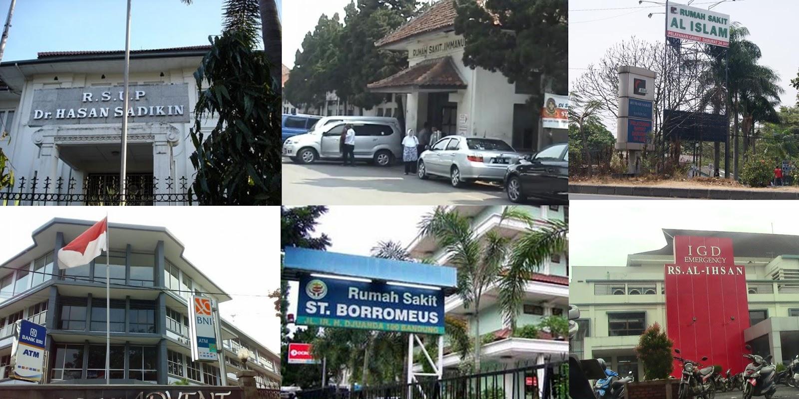Alamat dan kontak Rumah Sakit di Bandung
