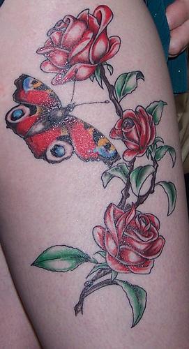 Thigh Tattoos On Women