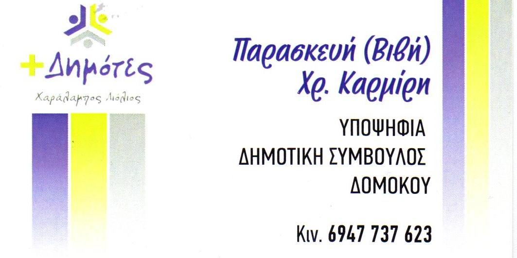ΠΑΡΑΣΚΕΥΗ-ΒΙΒΗ ΚΑΡΜΙΡΗ