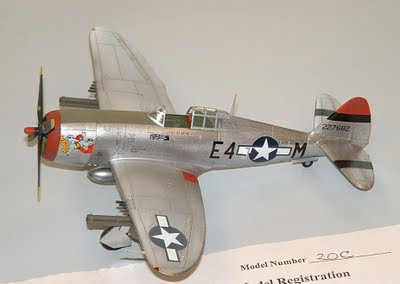 P-47 model with underwing rocket tubes
