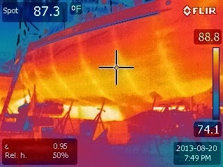 IR image of my steel boat