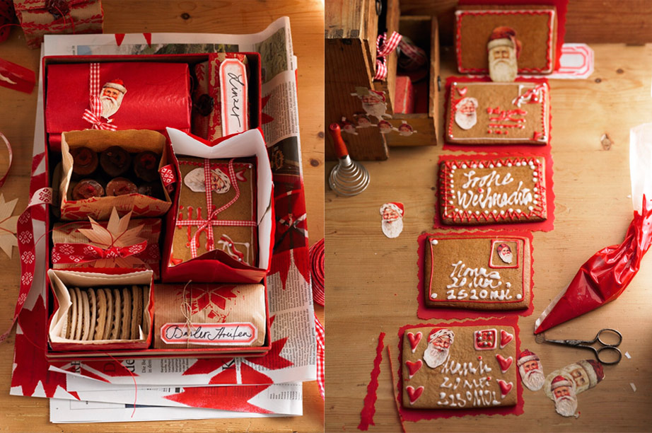 a box full of bags with cookies from south germany