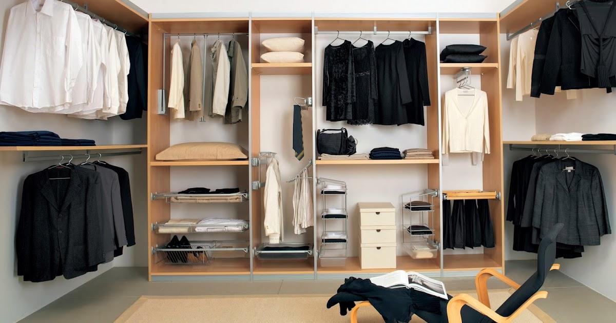desain lemari pakaian dan rak aksesoris minimalis rumah