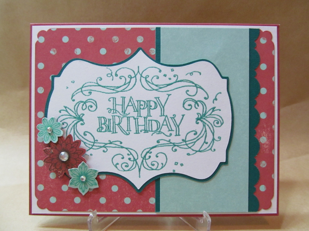 Savvy Handmade Cards: Happy Birthday Flourish Card