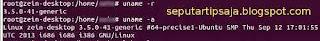 versi kernel ubuntu command terminal
