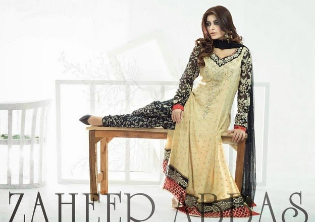 Zaheer Abbas Eid Collection 2014 wwwfashionhuntworldblogspot 10  - Zaheer Abbas Eid Collection 2014 For Women