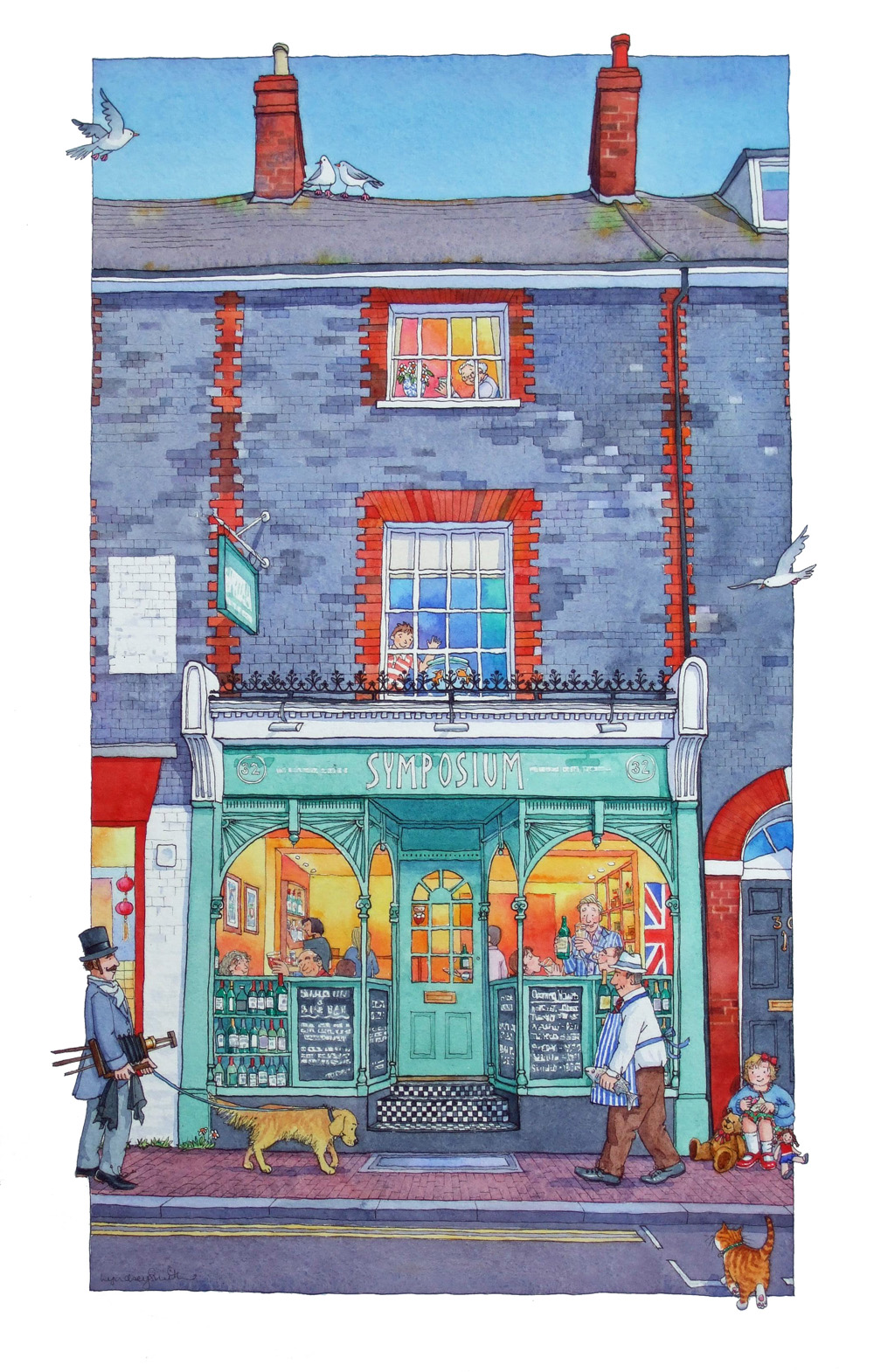 lyndseysmith march 2013 i really enjoyed painting those windows will be on the look out for more like that now there are not many left like that in lewes