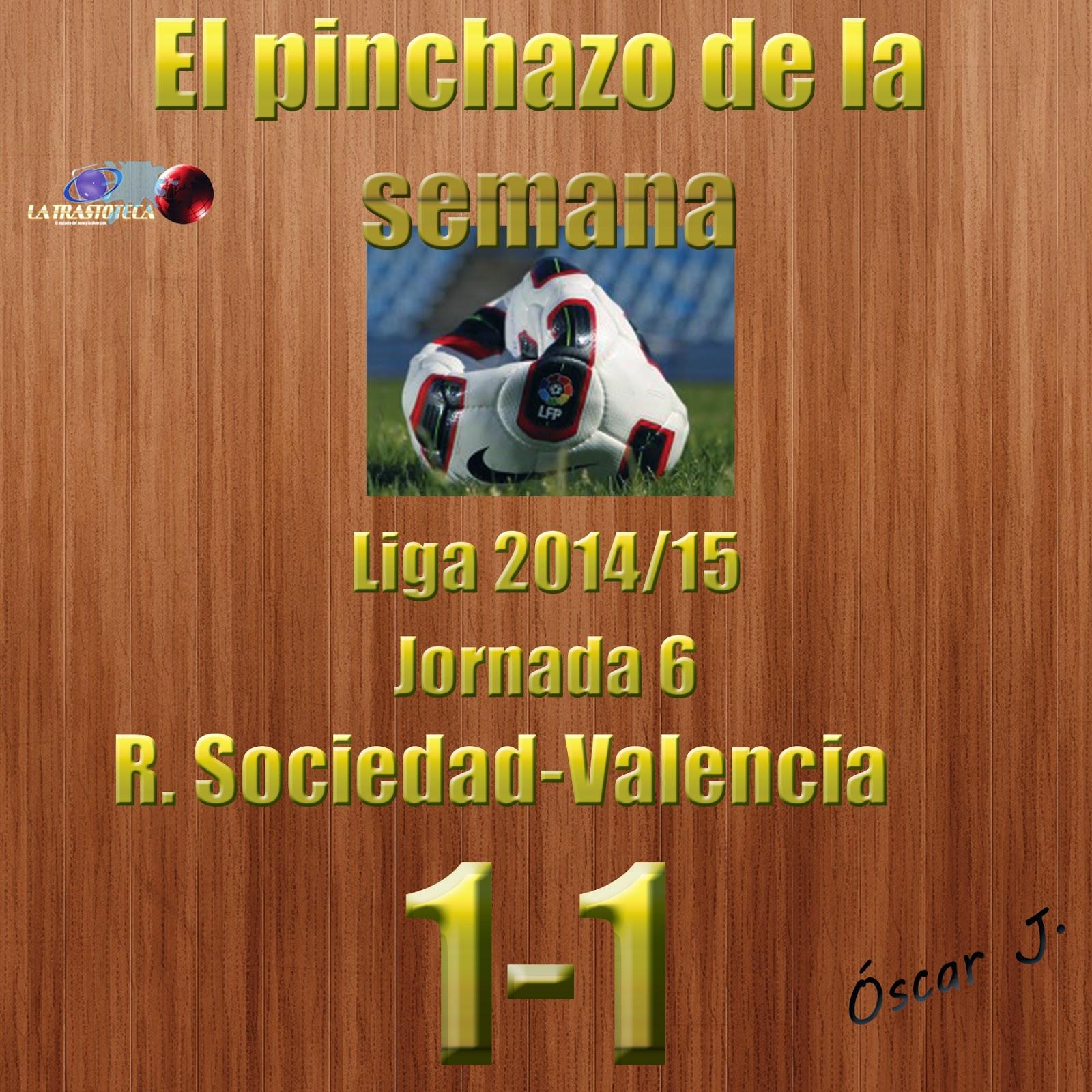 Real Sociedad 1-1 Valencia. Liga 2014/15 - Jornada 6. El pinchazo de la semana.