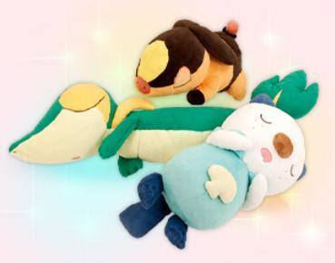 Pokemon Hatsuyume Plush Snivy Tepig Oshawott Set PokeCenJP
