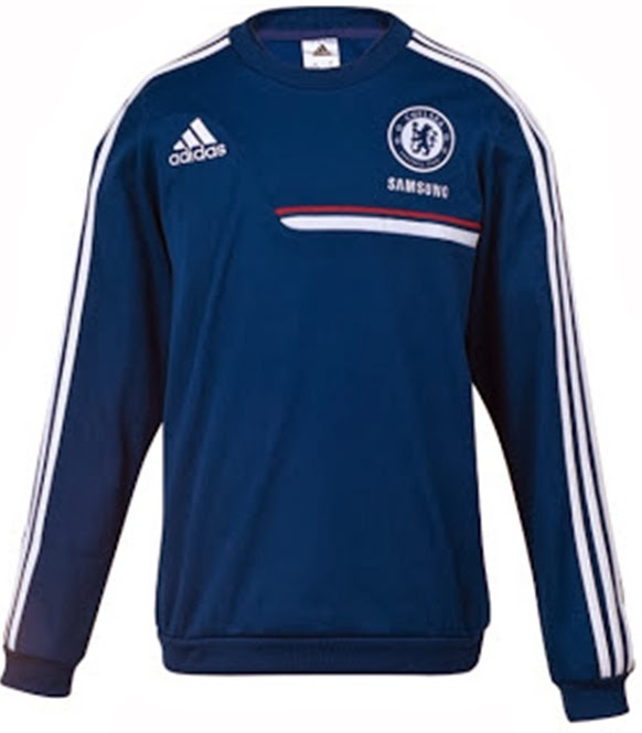 Sweater Traning Bola Grade Ori Chelsea Blue Official 2014