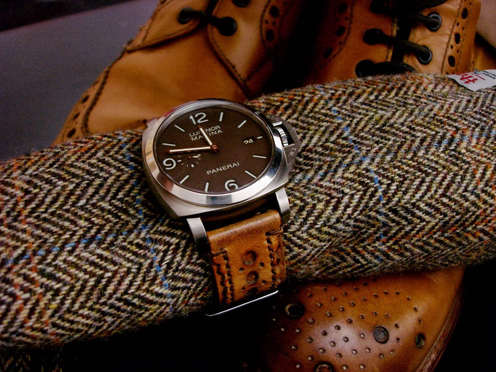 PAM351 on Burnished Tan Brogue strap