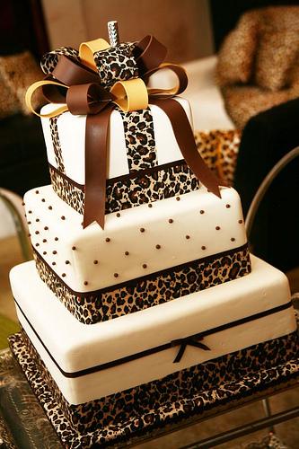 Leopard Design Birthday Cake : Ate o dia do casamento: Decoracao com animal print: onca