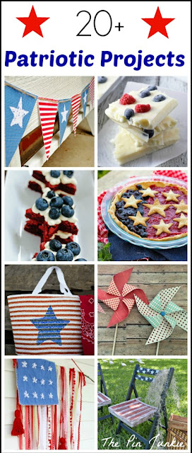 Patriotic Red White & Blue Crafts and Recipes