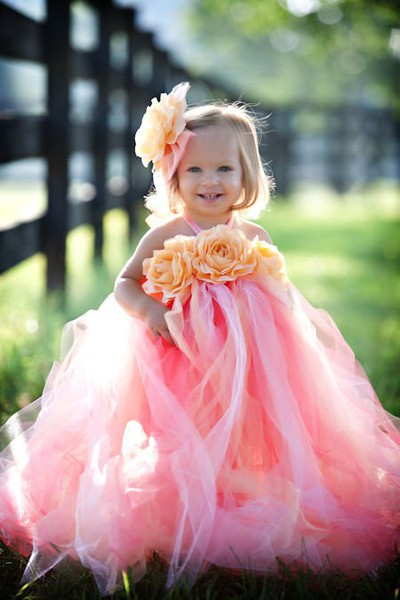 Runway fashions about weddings fall wedding color for Pink and orange wedding dresses