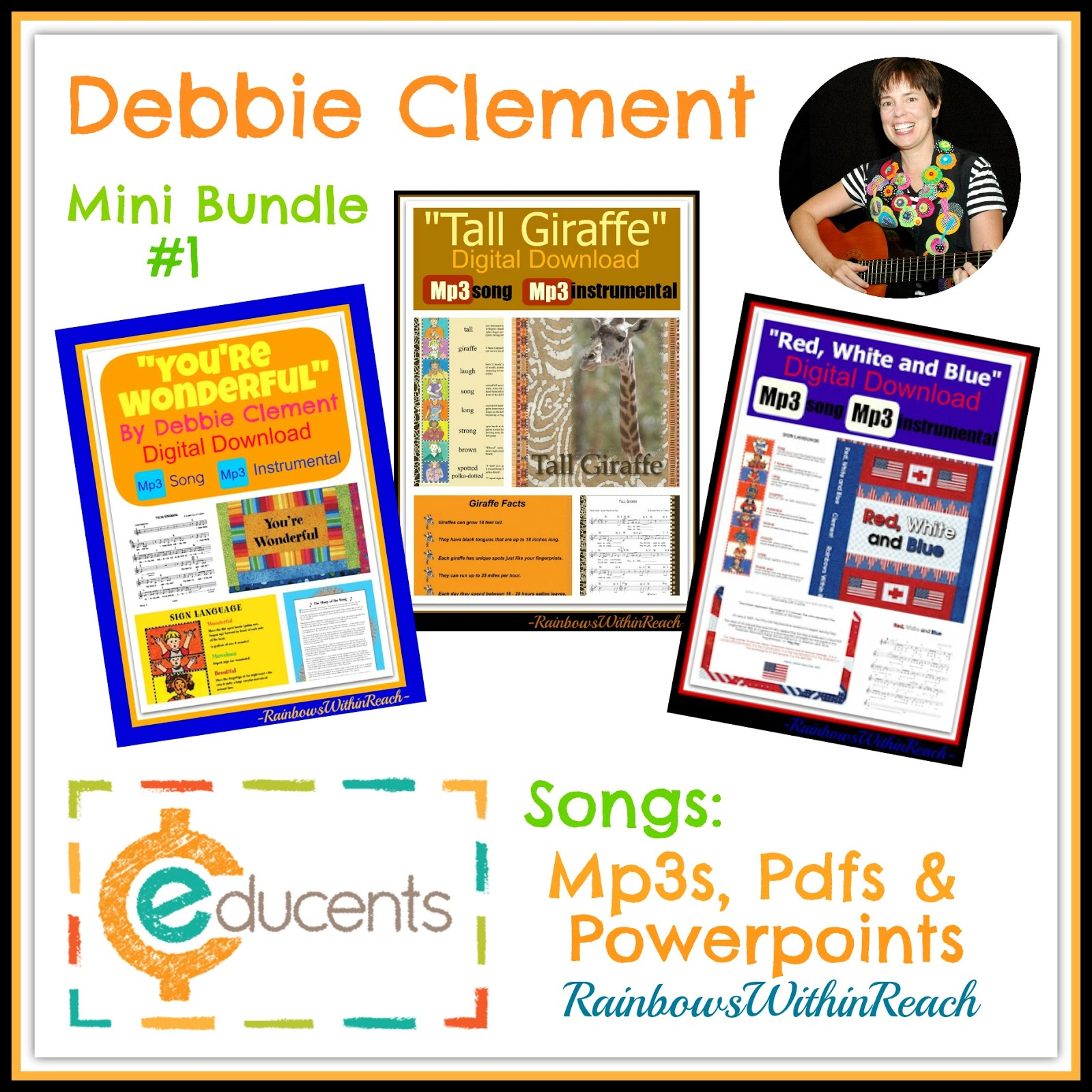 Debbie Clement Digital Downloads Discount at Educents (Songs and support materials)