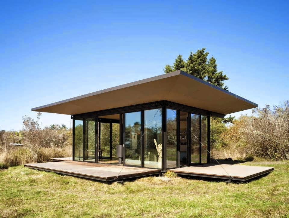 Unique And Minimalist House Design With Cabin Of Wood Glass Become Masterpiece