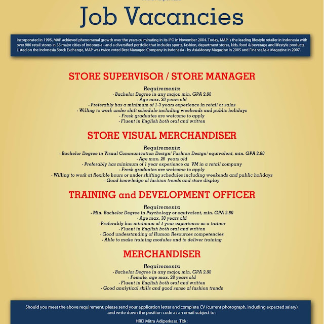 contoh job vacancy dan application letter