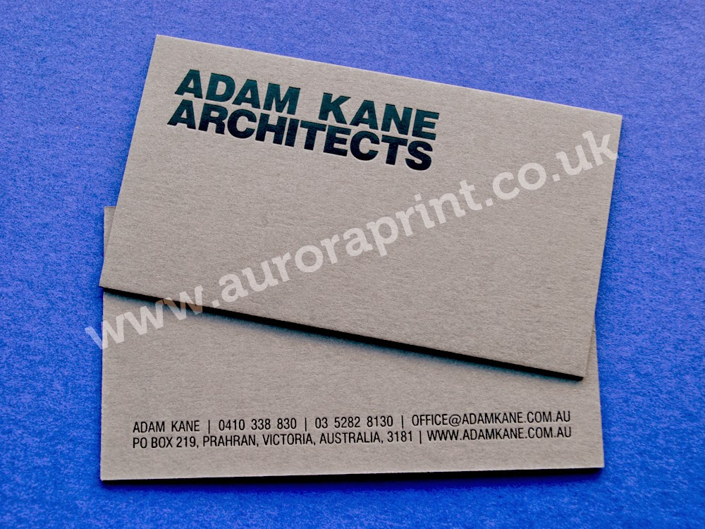 Adam Kane Architects - Business Cards. | Hot Foil Business Cards by ...