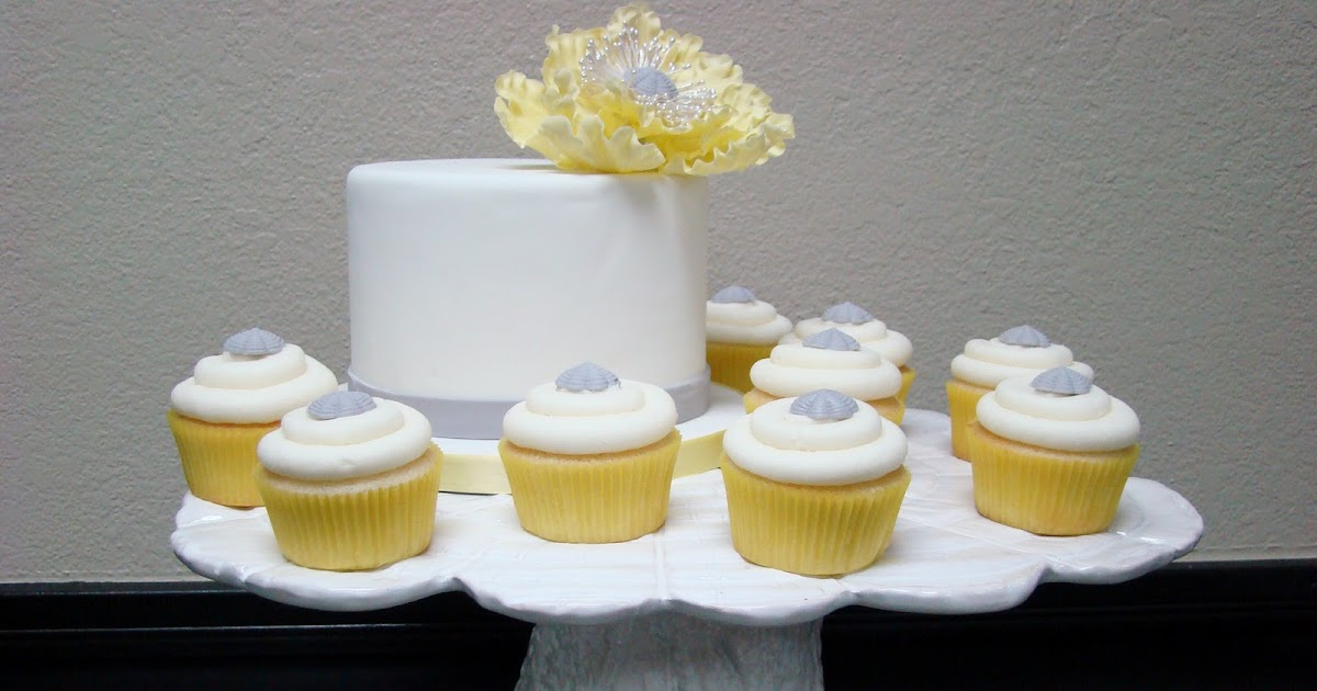 Sweet Cakes By Rebecca Yellow And Gray Cupcake Display