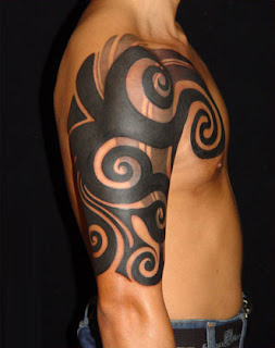 tribal tattoo design for full arm style