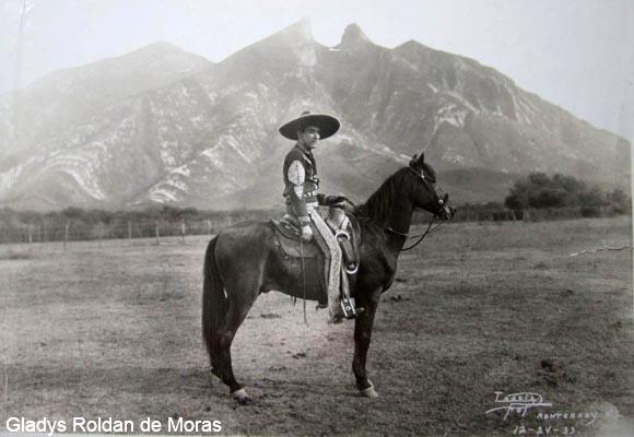 Charro Ernesto M. Olivares Villareal 1933 in Monterrey