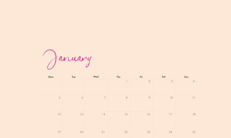 download: january desktop calendar