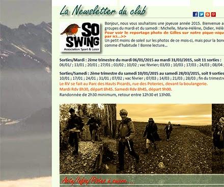 Newsletter club sportif Marche Nordique