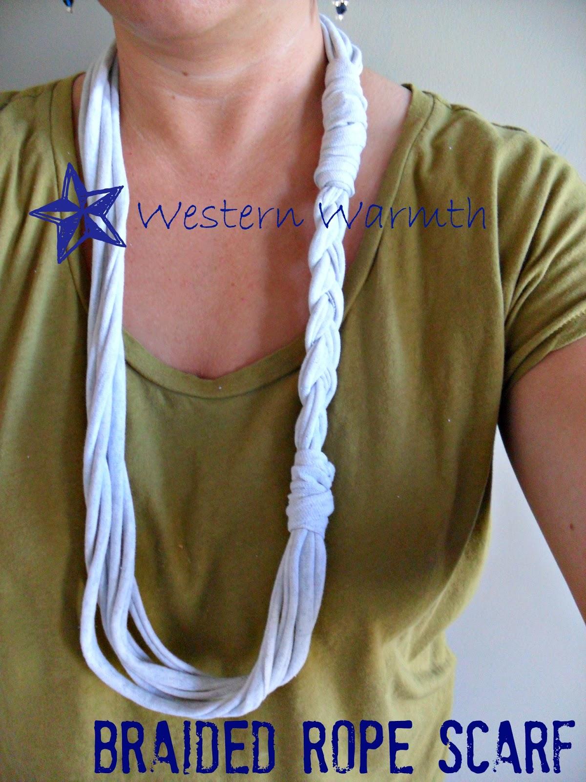 western warmth t shirt scarf