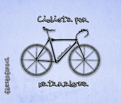 Ciclista por naturaleza, bicicleta de huesos