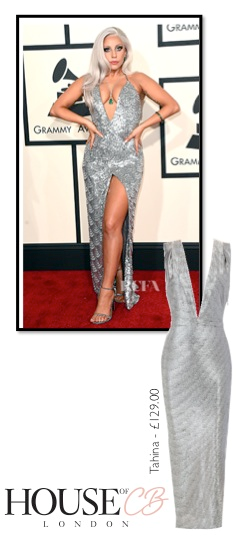 9a2d52d0e2f Copy Lady Gaga s Grammy Look with the silver Tahina Gown from House of CB