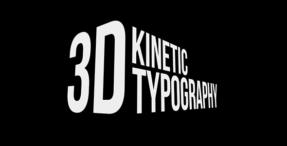 Videohive 3D Kinetic Typography Titles  free after