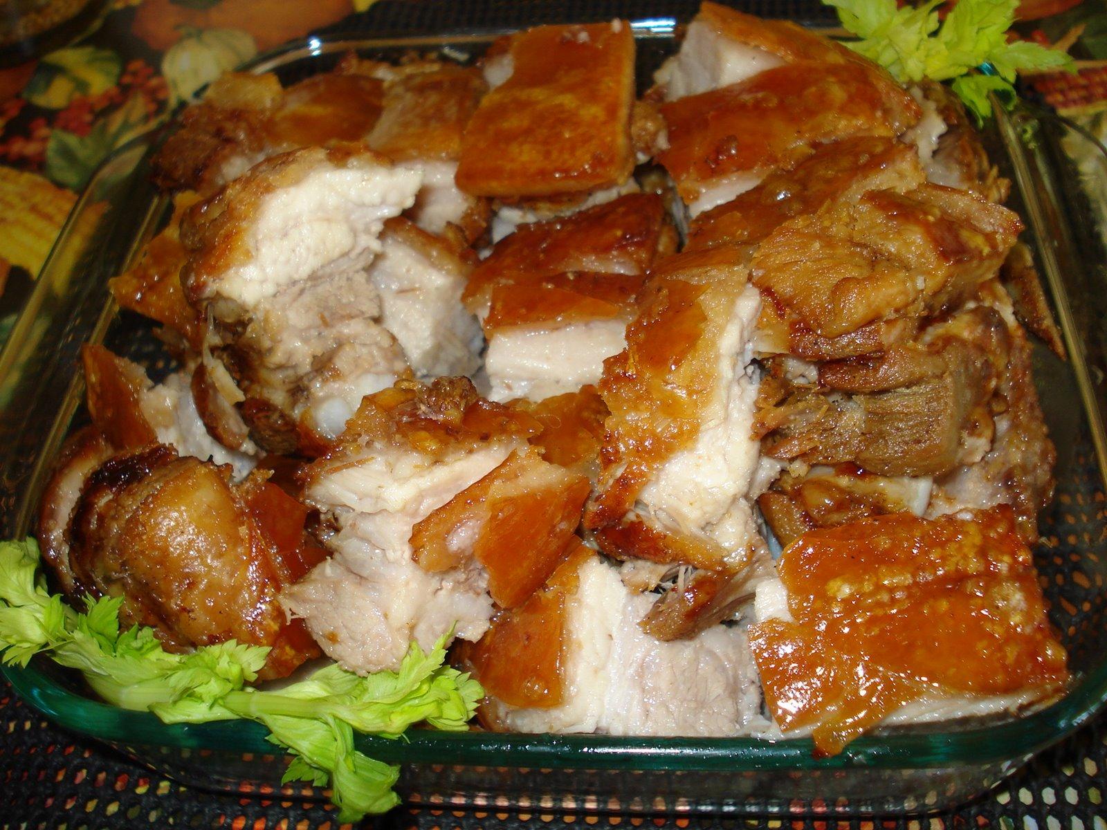 Filipino Dishes: Lechon Kawali (Pan-Roasted Pork)