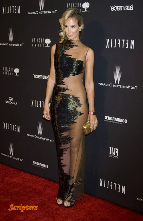 Pesona Lady Victoria Dengan Gaun Separul Bogel Di Golden Globe