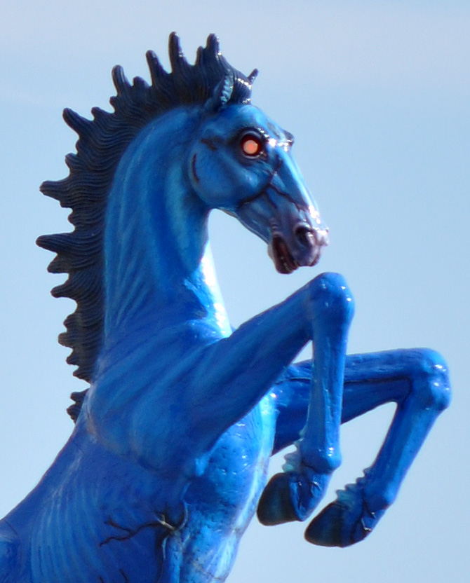 Braymere Custom Saddlery: Blue Mustang
