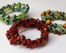 memory wire bracelet DIY