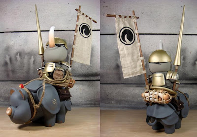 The Huck Gee Project: The Rhino Poacher Custom Vinyl Figures
