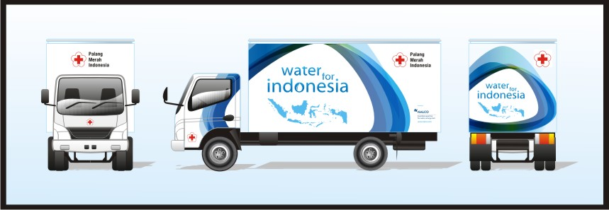 Branding truck CSR NALCO untuk PMI