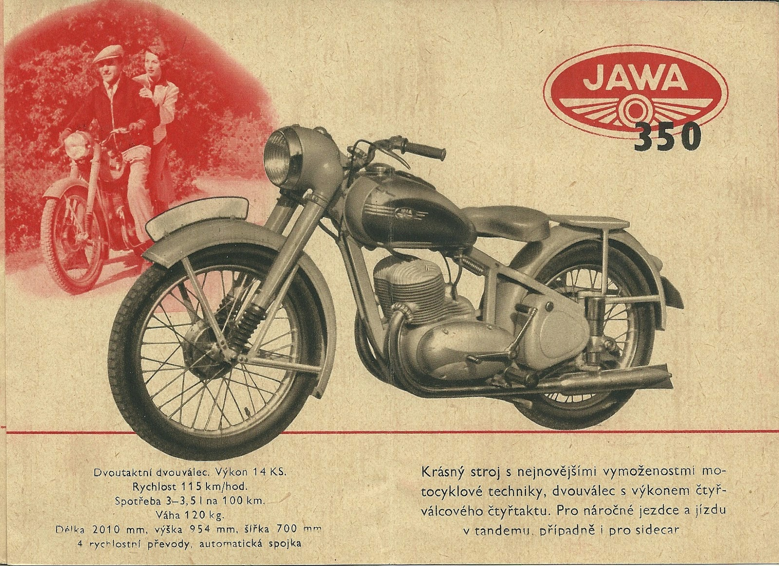 Ulotka reklamowa Jawa 350