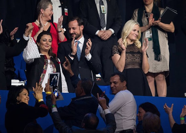 Prince Haakon And Princess Mette-Marit At The Nobel Peace Prize Concert