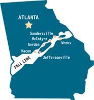 Georgia Map Fall Line - Georgia map fall line