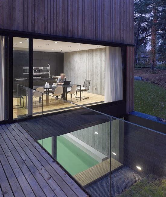 Casas minimalistas y modernas casa moderna de hormigon y for Casa moderna hormigon
