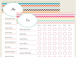 Free Printable Girls Chore Chart