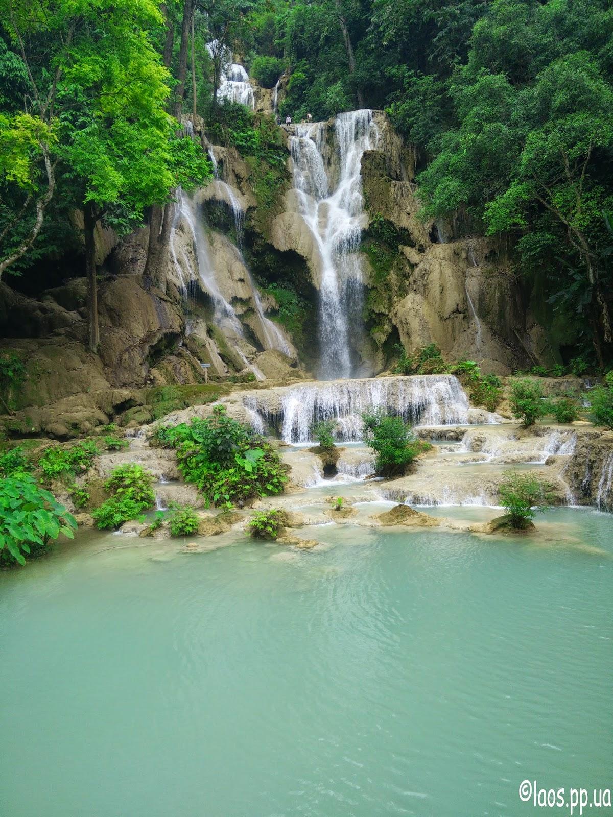 Водопад Куанг Си Луанг Прабанг Лаос