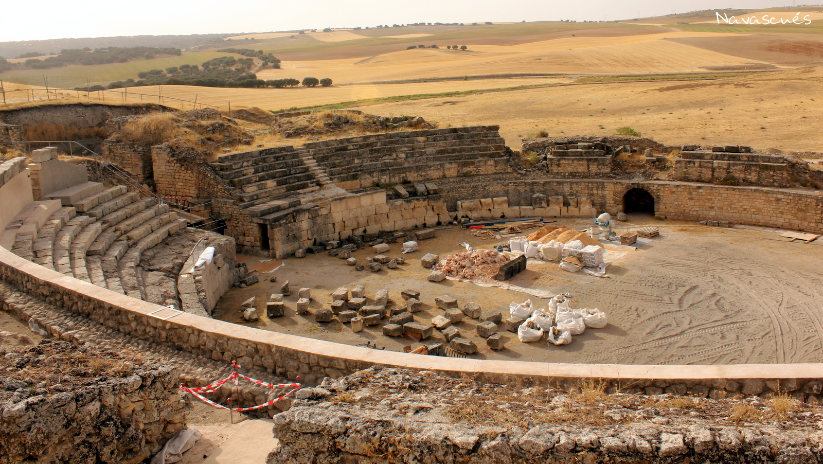 Anfiteatro en obras