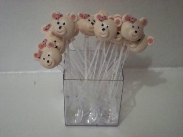 colher decorada ursinha