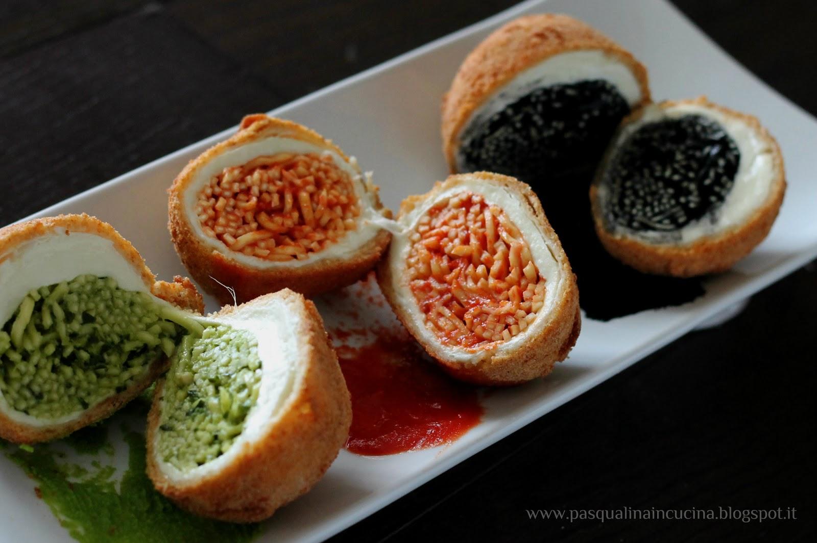 Pasqualina in cucina: Palle di mozzarella dorate con tagliolini ...