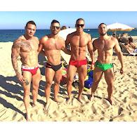 Macho na praia