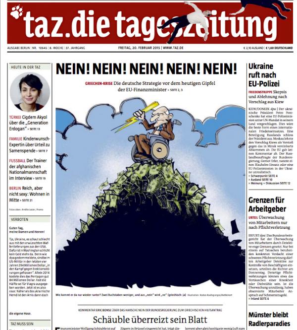 prensa alemana, grecia,